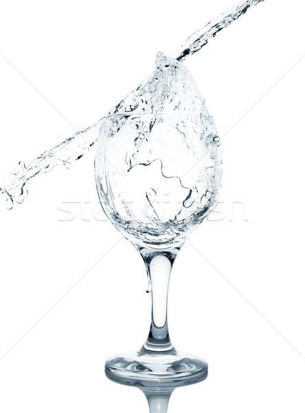 水 ガラス 孤立した 白 ワイン ストックフォト © ashumskiy