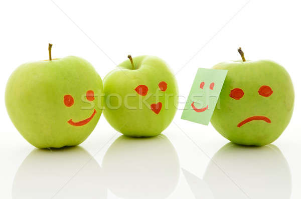 Three green apples Stock photo © ashumskiy
