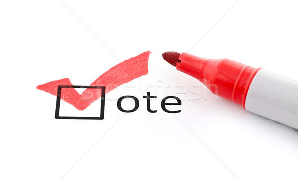 Red checkmark on vote checkbox Stock photo © ashumskiy