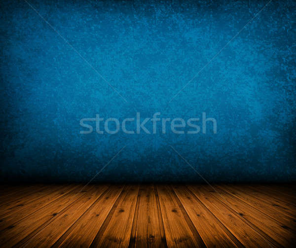 Vintage bleu chambre sombre artistique Photo stock © ashumskiy