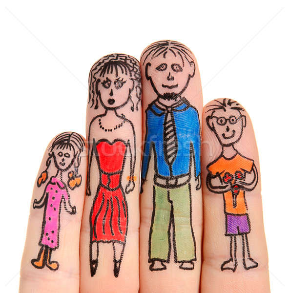 Fingers Family Stock photo © ashumskiy