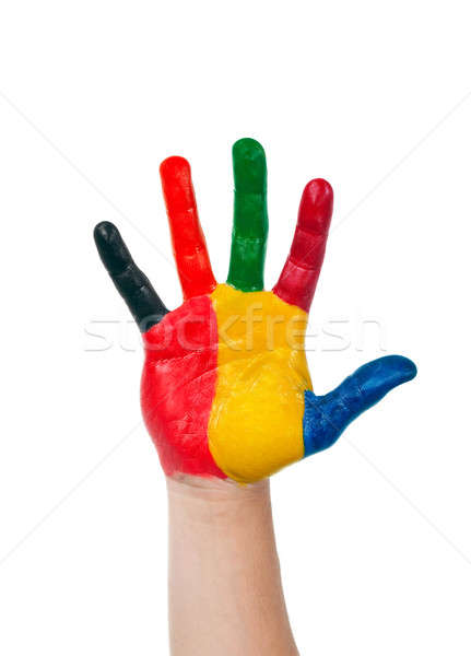 colored hand Stock photo © ashumskiy