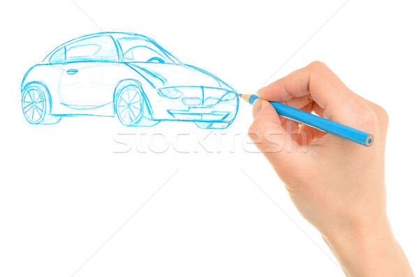 Hand drawing car Stock photo © ashumskiy