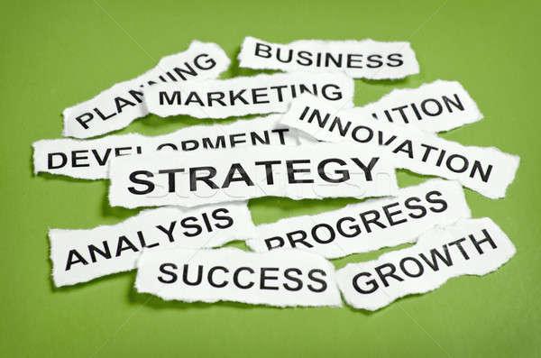 引き裂か 新聞 ビジネス戦略 緑 ビジネス ストックフォト © ashumskiy