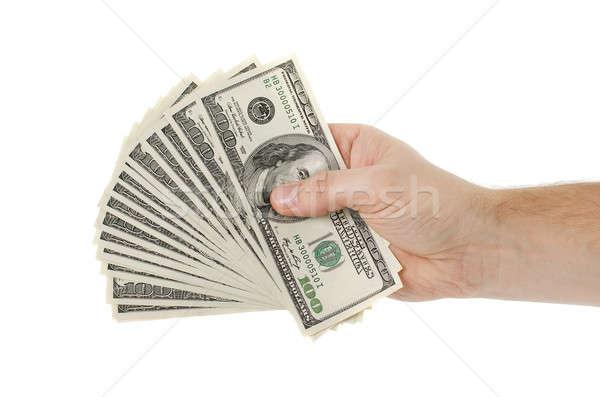 男 手 ドル 孤立した 白 ビジネス ストックフォト © ashumskiy