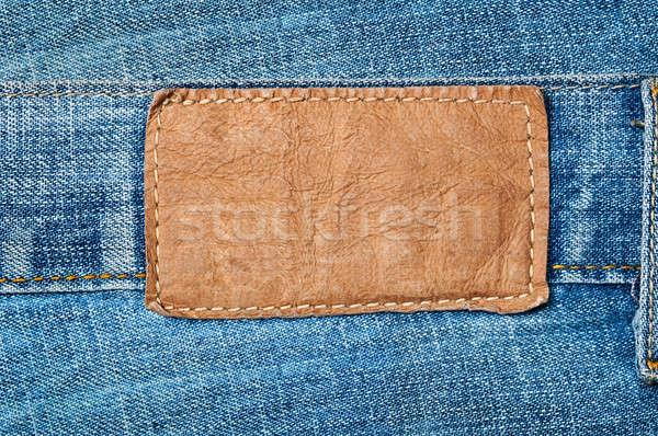 grungy leather label Stock photo © ashumskiy