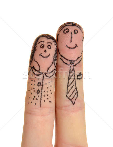 Fingers couple Stock photo © ashumskiy