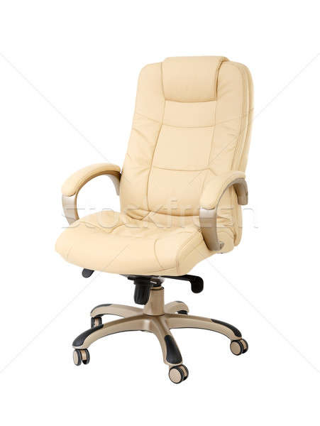 The office chair from beige leather Stock photo © ashumskiy