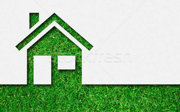 Simple green eco house icon Stock photo © ashumskiy