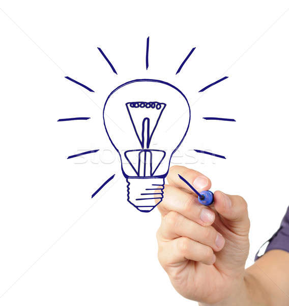 Hand drawing light bulb Stock photo © ashumskiy