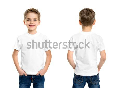 White t-shirt on a young man isolated Stock photo © ashumskiy