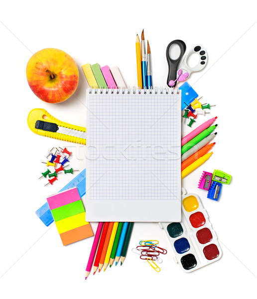 School stationery with notebook copyspace Stock photo © ashumskiy