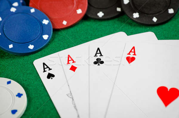 Aces and poker chips Stock photo © ashumskiy
