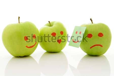 Two green apples Stock photo © ashumskiy