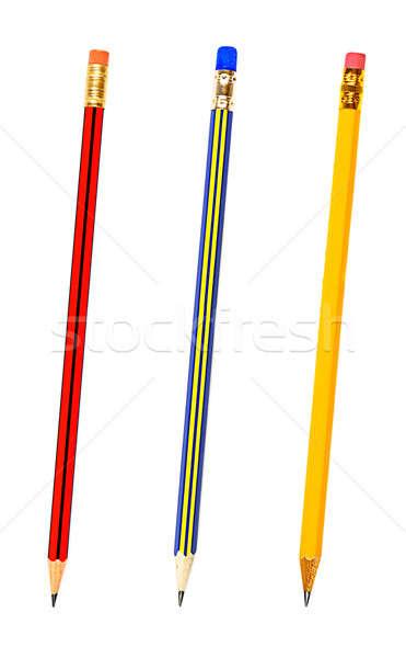 3  鉛筆 孤立した 白 オフィス 作業 ストックフォト © ashumskiy