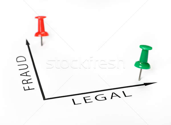 Legal chart with green and red pin  Stock photo © ashumskiy