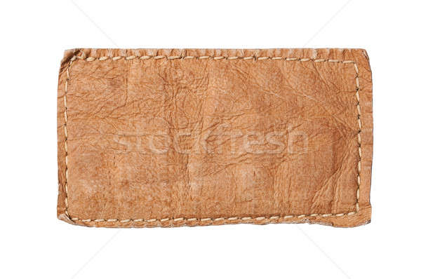 Blank jeans labe Stock photo © ashumskiy