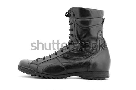 Single black boot Stock photo © ashumskiy