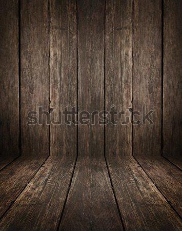 インテリア 暗い ヴィンテージ ブラウン 木製 ストックフォト © ashumskiy