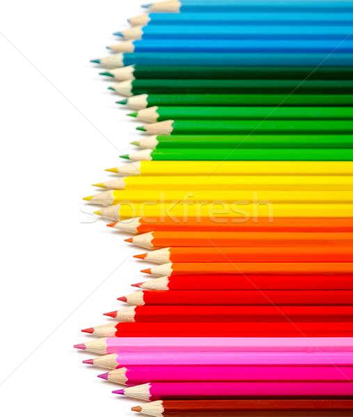カラー 鉛筆 孤立した 白 紙 学校 ストックフォト © ashumskiy