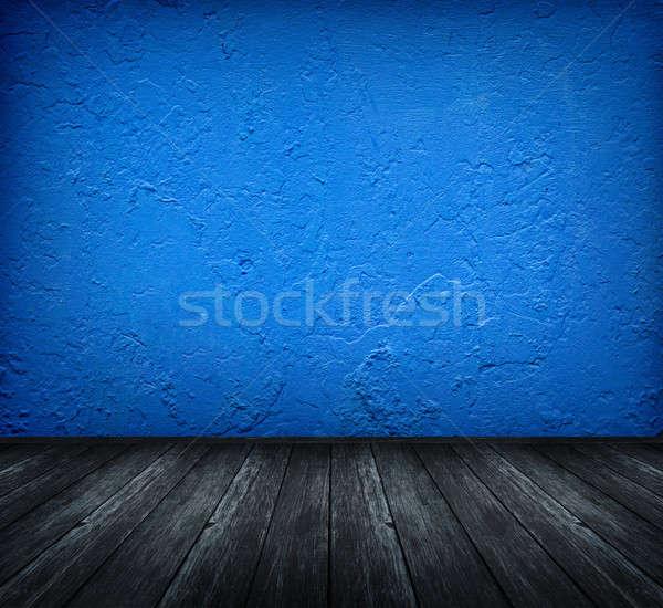 Karanlık mavi oda bağbozumu artistik Stok fotoğraf © ashumskiy