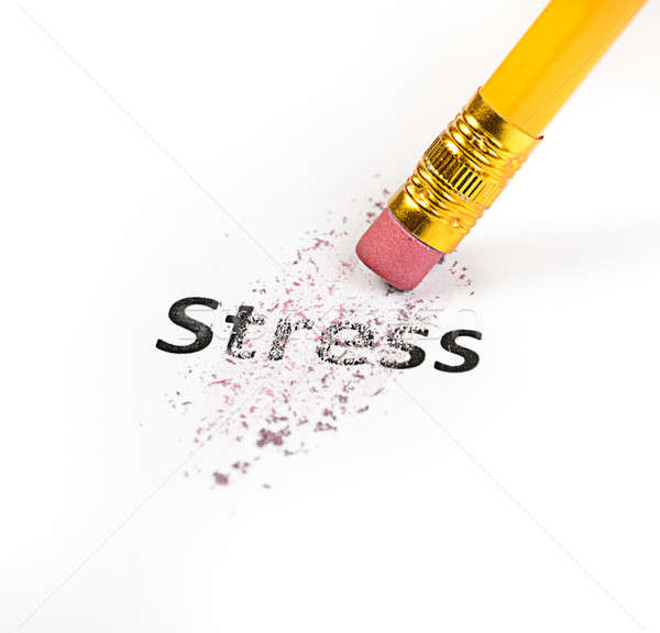 Stress business kantoor potlood gum pen Stockfoto © ashumskiy