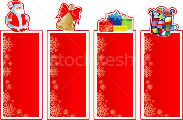 Ingesteld christmas banners vak groene groep Stockfoto © ashusha