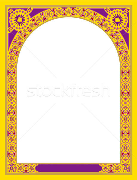 Decoratief natuur frame groep retro kleur Stockfoto © ashusha