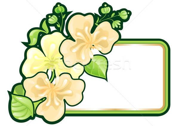 Wenskaart bloemen einde lint natuur kunst Stockfoto © ashusha