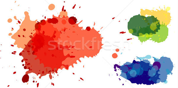 Color drops end bolts set Stock photo © ashusha