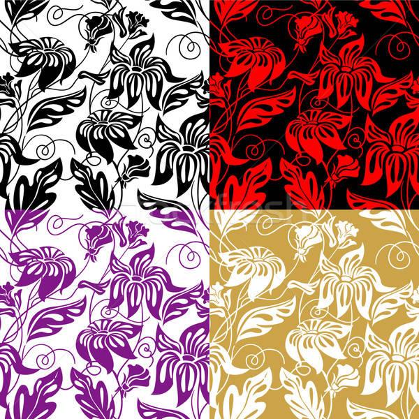 Flora naadloos computer boom ontwerp Stockfoto © ashusha