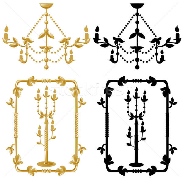 Framework candelabrum and chandelier Stock photo © ashusha