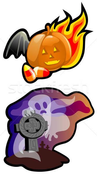 Foto stock: Halloween · quadro · olho · luz · laranja · grupo