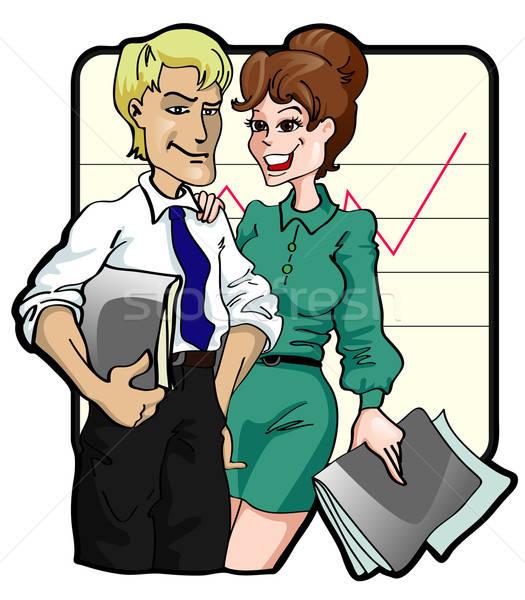 Business team kantoor vrouwen haren mannen groep Stockfoto © ashusha