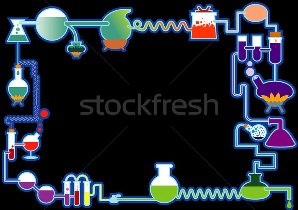 Chemische plant frame computer technologie teken Stockfoto © ashusha