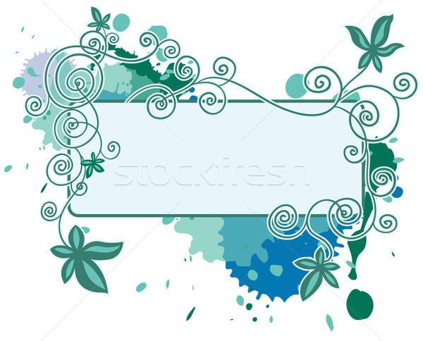 Frame kleuren druppels computer boom schoonheid Stockfoto © ashusha