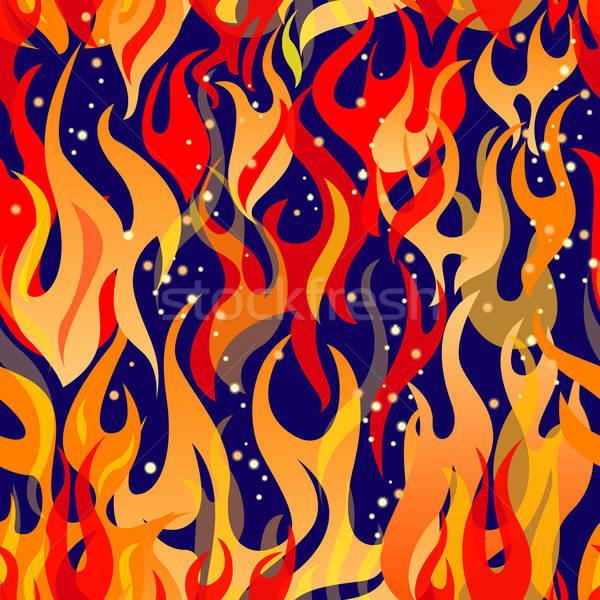 Naadloos structuur vlam ontwerp Rood Stockfoto © ashusha