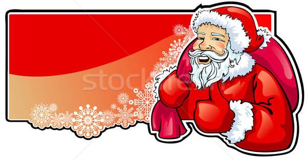 Kerstman zak geschenken banner christmas achtergronden Stockfoto © ashusha