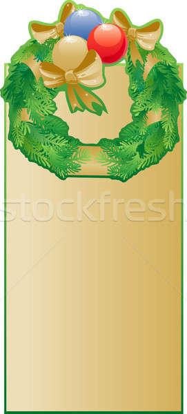 Krans christmas banner ontwerp kunst Blauw Stockfoto © ashusha
