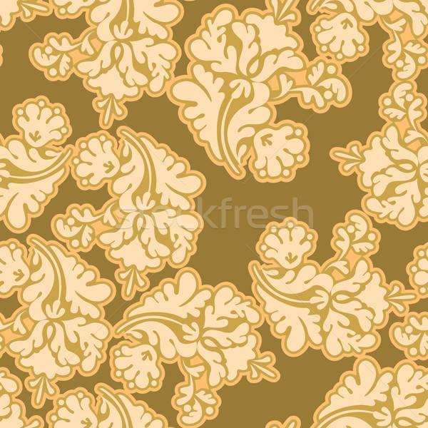 Goud naadloos computer boom ontwerp Stockfoto © ashusha