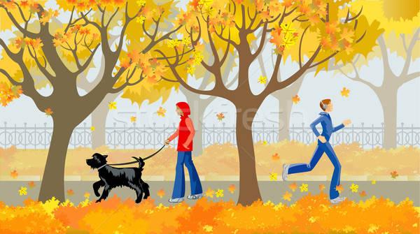 autumn avenue Stock photo © ashusha