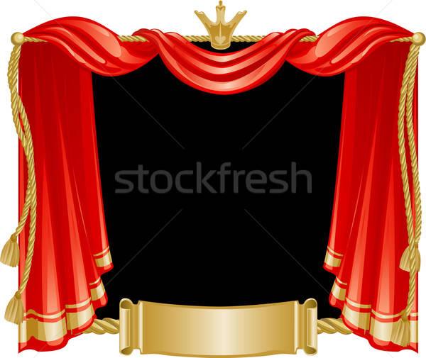 Magnífico cortina coroa rolar membro música Foto stock © ashusha