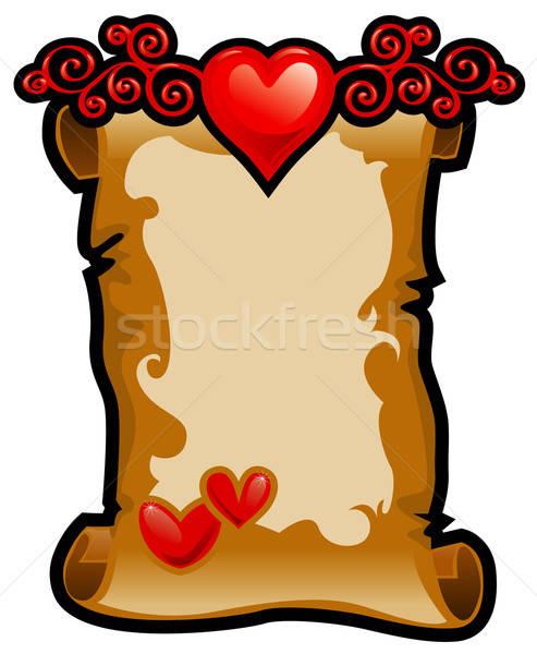 Frame Valentijn dag abstract hart Rood Stockfoto © ashusha