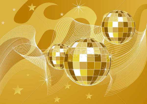Disco ball achtergronden kunst bal star lichten Stockfoto © ashusha