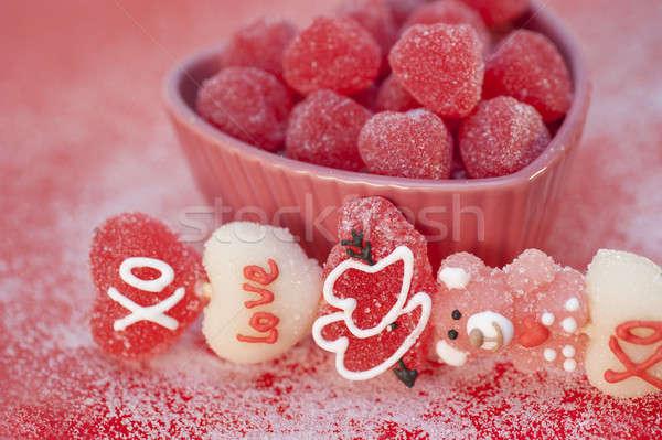 Valentijn hart liefde leuk Stockfoto © aspenrock