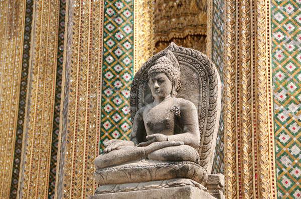 座って 石 仏 建物 ストックフォト © aspenrock
