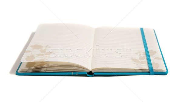 Blauw notebook klaar woorden kantoor papier Stockfoto © aspenrock