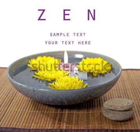 Güzel zen sahne bo aromaterapi mumlar Stok fotoğraf © aspenrock