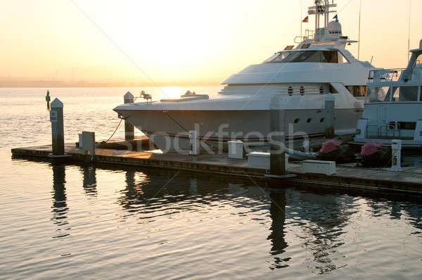Foto d'archivio: Lusso · sunrise · estate · arancione · Ocean · ponte