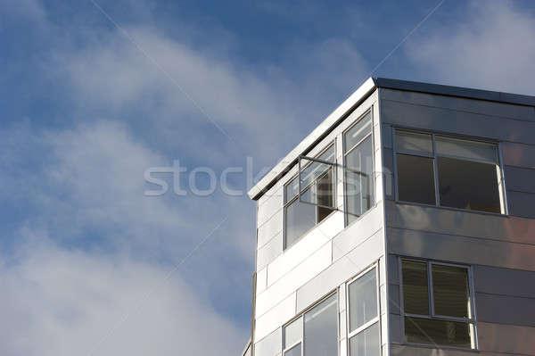 Open venster welkom nieuwe zilver Stockfoto © aspenrock
